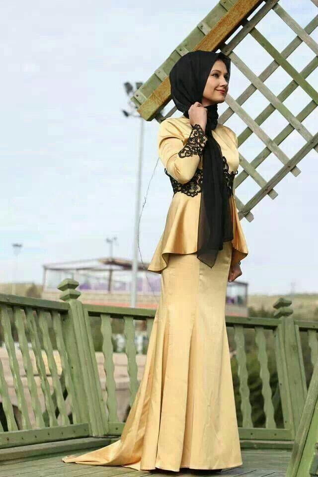 فستان حجاب سوارية سهرة hijab soiree dress