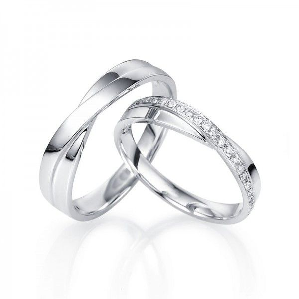 Matching wedding rings [not sure how this would look with an engagement ring]
