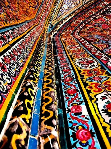 Art: This is the art in some of modern day Iran. Although it is modern, it shows how much detail and design is put into some of the architecture.