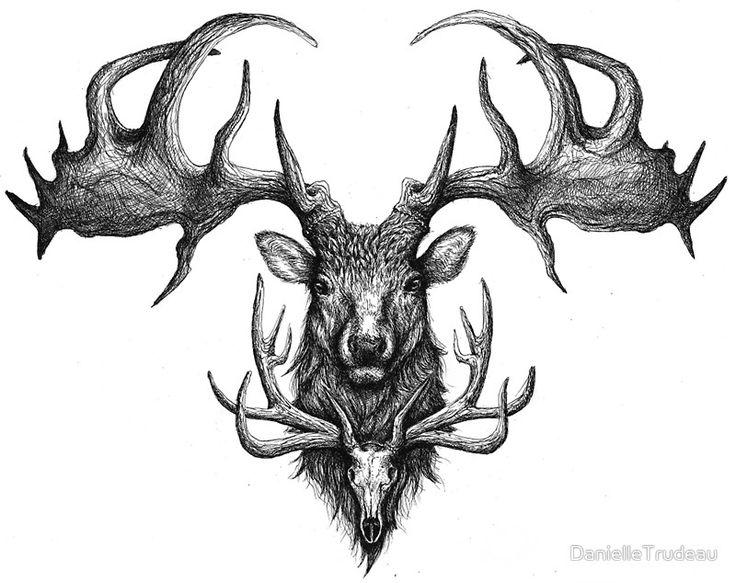 Graham's Ghost - Irish Elk and Elk Skull by DanielleTrudeau