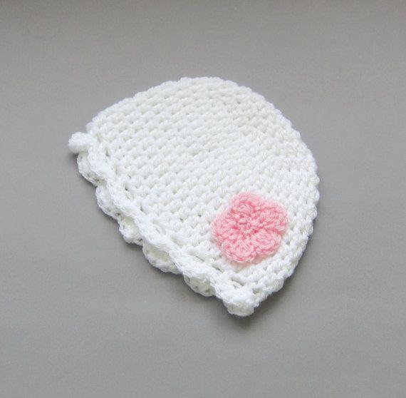 Crochet hatbabygirl beaniecrochet hatlnewborn by Amaiahandmade