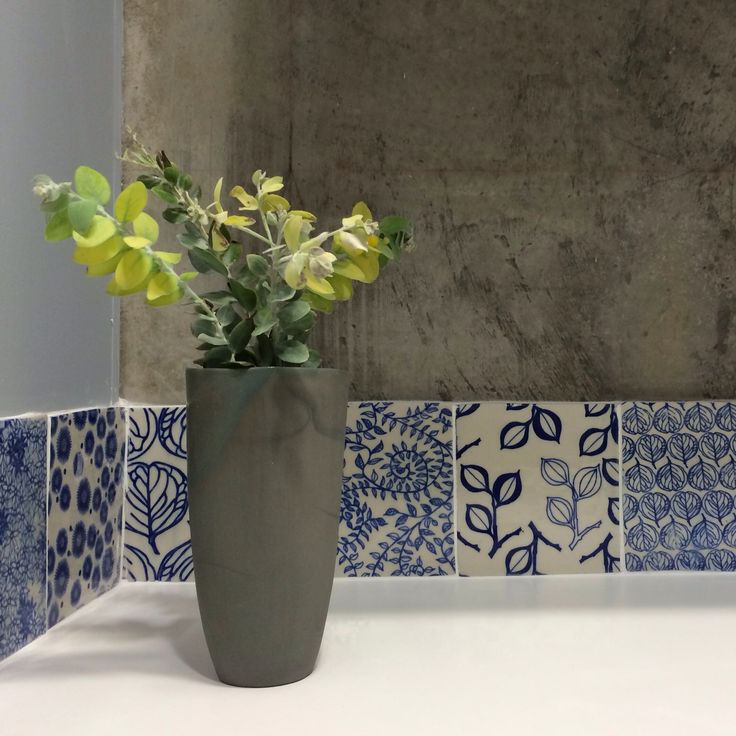 Floralware tiles by Eucalypt Homewares