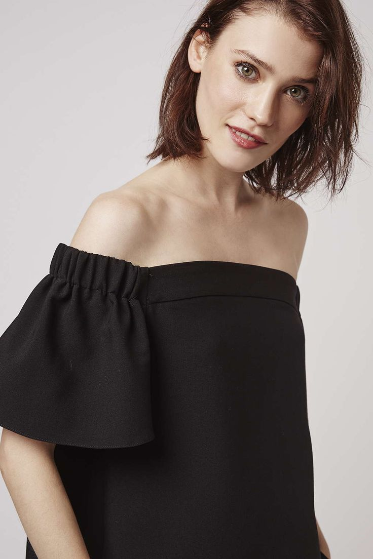 Structured Bardot Top - Topshop