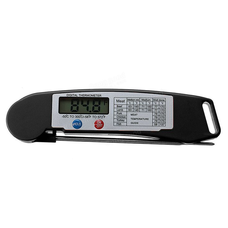 Foldable Digital Instant Read Food Probe Cooking Meat Kitchen BBQ Thermometer Sale - Banggood.com