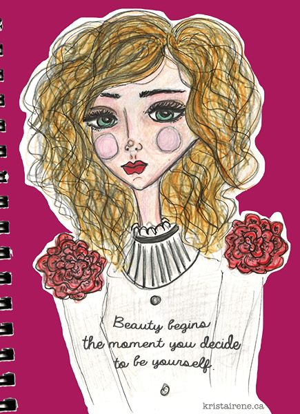 Beauty Quote - artwork by Krista Irene Tannahill