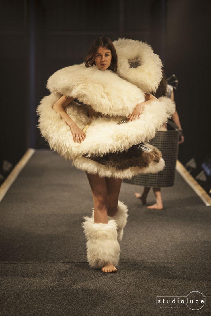 Runway Fashion Photography  Photographer: Studio Luce  Location: Fieldays Wearable Arts Mercia Paymaans - Fleesed - Avant Garde - Second Place 2014 Wearable Art Awards