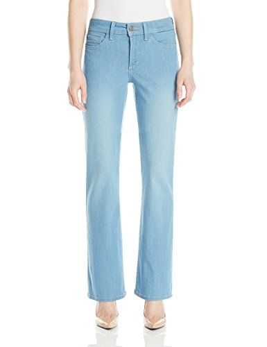 NYDJ Womens Petite Barbara Boot Cut Jeans In Sky Blue Denim Palm Bay 0 Petite * You can get additional details at the image link.