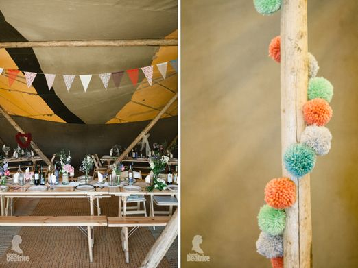 Wedding bunting and pom pom decorations – photography…