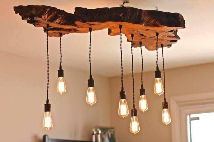 Olive Holz Leben-Edge Leuchte. von 7MWoodworking auf Etsy