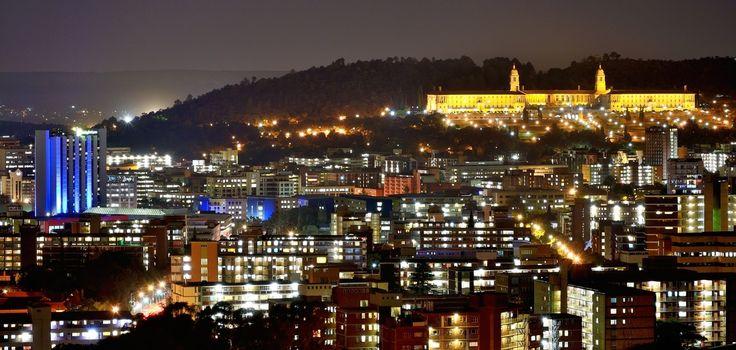 Pretoria illuminated in the night