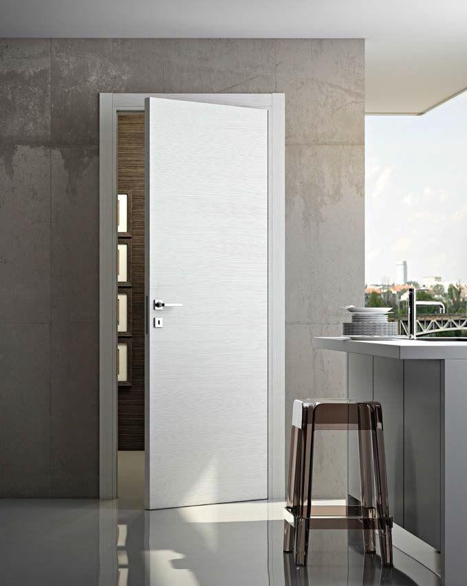 D-BS P26C: Puerta de Interior Laminado Blanco Escultura Modelo MS con Marco Tipo Desing. ******* D-BS P26C: Sculpture White Laminated Interior Door. Model MS with Frame Desing Type