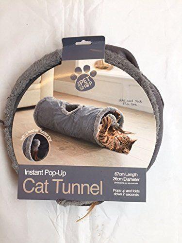Aus der Kategorie Tunnel  gibt es, zum Preis von EUR 24,53  Brandneu und verpackt Grey Furry Katzentunnel, verfügt über eine Feder-Teaser Spielzeug Pop Up & Down in Sekunden 67cm Länge 26cm Durchmesser (Maße sind circa Angaben)