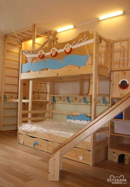 Детские двухъярусные кровати для мальчиков