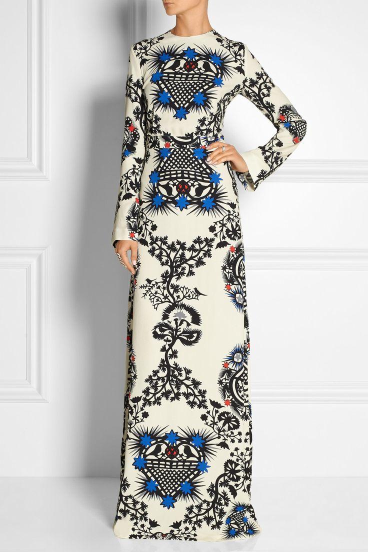 MSGM Printed crepe maxi dress 