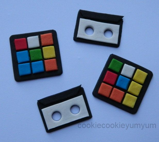 12 edible 80'S RUBIK CUBE & CASSETTE cake cookie cupcake topper decoration party wedding anniversary birthday engagement 70's 16th 18th 21st by cookiecookieyumyum on Etsy