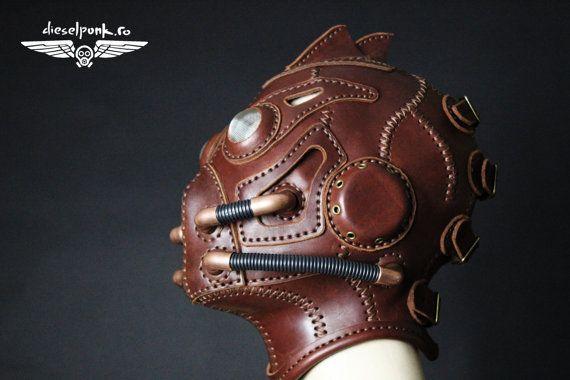 STEAMPUNK-Maske Leder Maske gemacht Halloween von SteampunkMasks