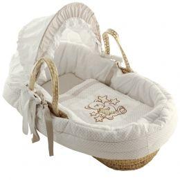Babykörbchen 'Traumstern' komplett ausgestattet