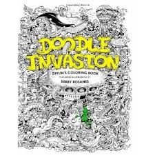 Best 25 Doodle Invasion Coloring Book Images On Pinterest