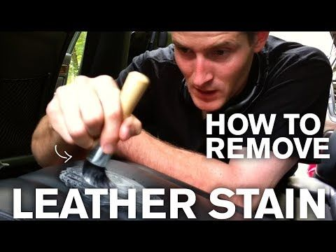 How To Remove An Old Stain From Leather Youtube White Leather Couch White Leather Sofas Leather Couch