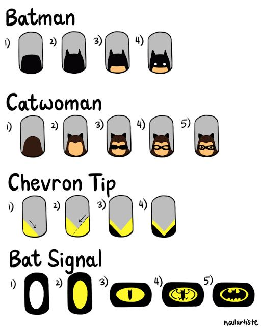 The Nail Artiste shares some great DIY Batman Nail Art ideas for you to show off this #BatmanDay