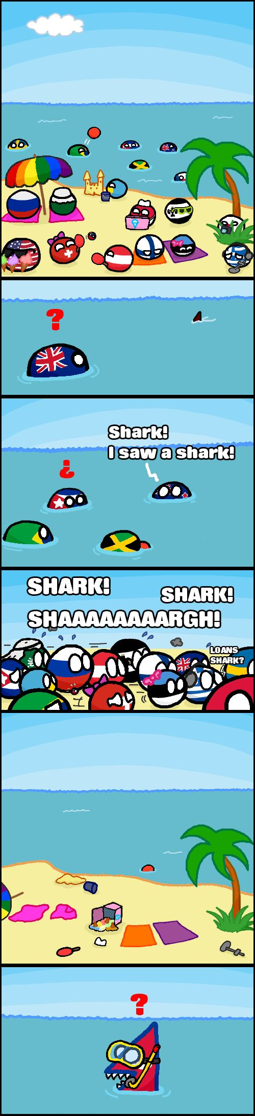 "Nepal flag ""Cry Shark"" by disneyvillain   #polandball #countryball"