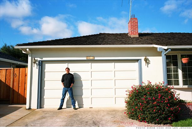 At age 21, in 1976, Steve Jobs co-founded Apple with Steve Wozniak in Jobs' family garage in Los Altos, Calif. Jobs' father removed his car restoration equipment and brought home a wooden workbench that served as Apple's first manufacturing base. Jobs returned to the empty garage in 1996 to be photographed for Fortune.