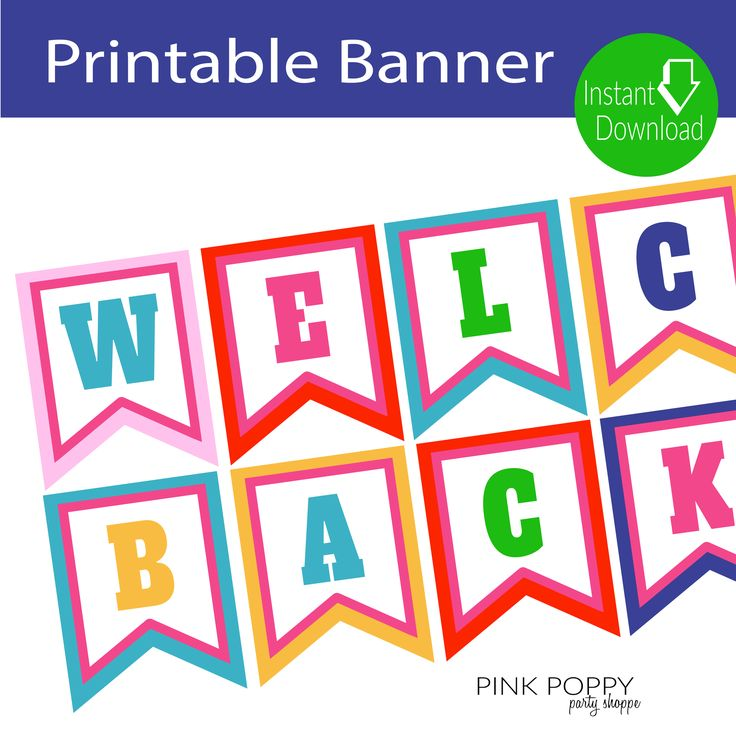 Free Printables} Welcome Back Banner Pinterest Free printables - welcome back template