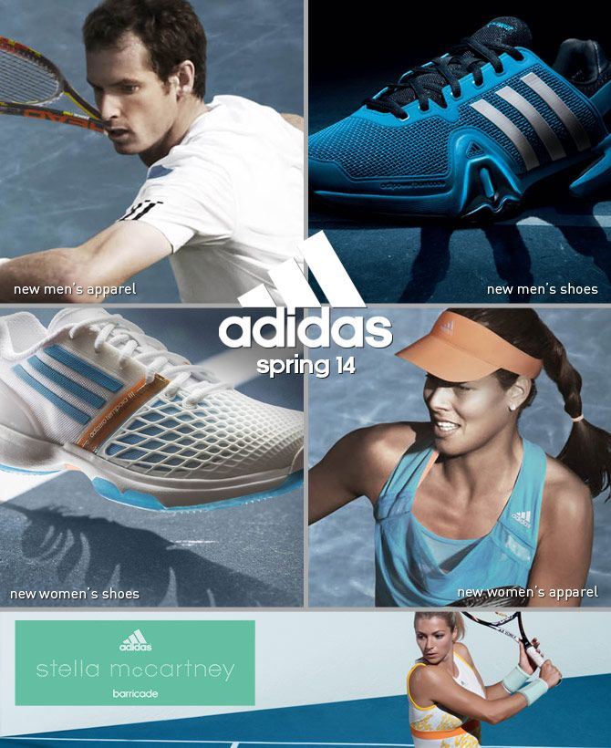New 2014 adidas apparel & footwear now available! Shop here: http://www.midwestsports.com/adidas-tennis-store/c/2/