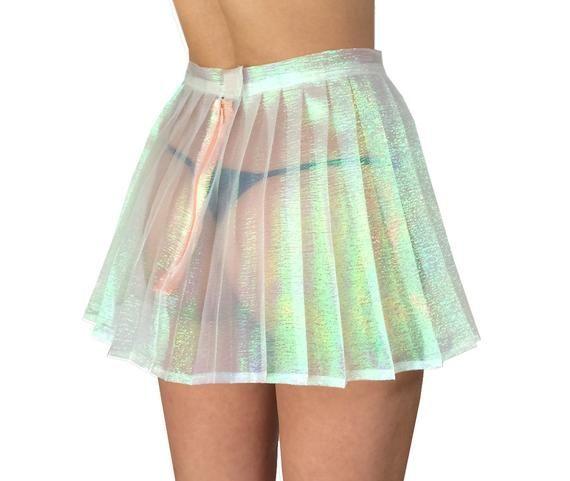 Handmade Iridescent Pleated Mini Skirt XS-XL Choose Your   Etsy