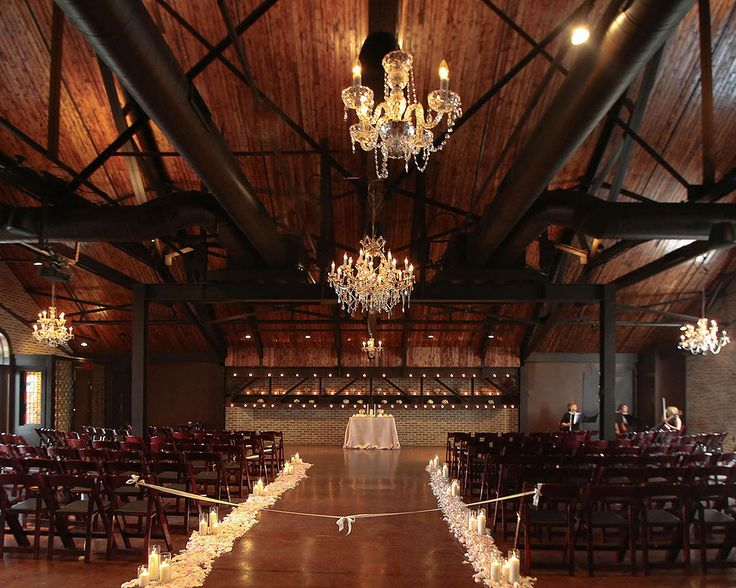 A stunning wedding ceremony on the second floor at CANAL 337 in downtown Indianapolis, Indiana. | Special Event Venue & Wedding Reception Indianapolis | Wedding Gallery