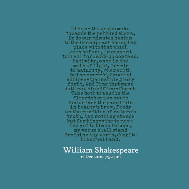 William Shakespeare Sonnet #60