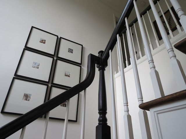 painting stair banisters and railings | Painting stair railings black | D I Y I D E A S