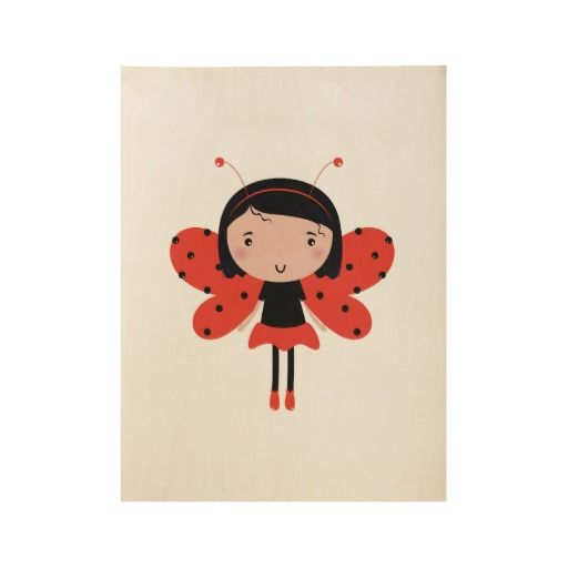 Kids designers Wooden poster with Lady Bee
