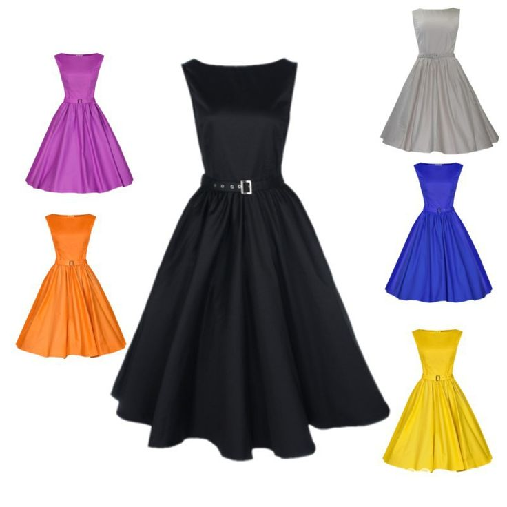 Cheap Dresses, Buy Directly from China Suppliers:2015 Audrey Hepburn Vestidos M-5XL Plus Size Women Summer Black Retro Casual Party Robe Rockabilly Vintage 50s 60s Dress