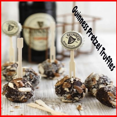 Guinness Pretzel Truffles.  Click Picture & Get Your Copy of Mouthwatering St Patrick's Day Recipes http://marleneroberson.com/st-patricks-day-recipes/