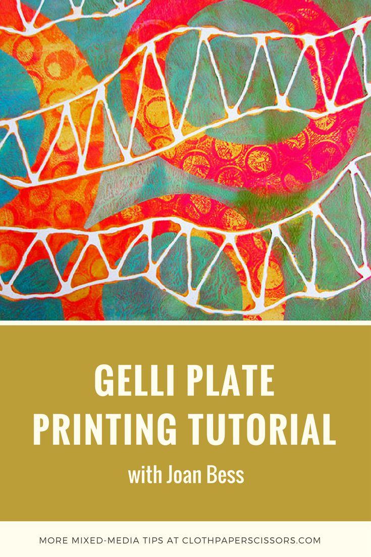 Gelli Plate Printing Tutorial with Joan Bess