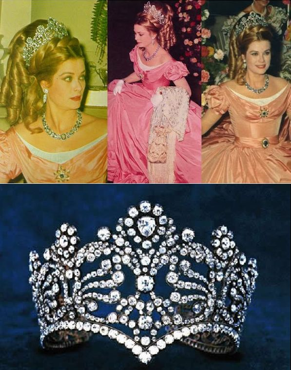 """Princess Grace of Monaco at the """"Century Ball"""" in 1966 wearing the coronation crown of Empress Joséphine, now owned by Van Cleef & Arpels. They loaned it to Princess Grace along with the rest of the jewels she wore that evening. Via Royal Order of Sartorial Splendor."""
