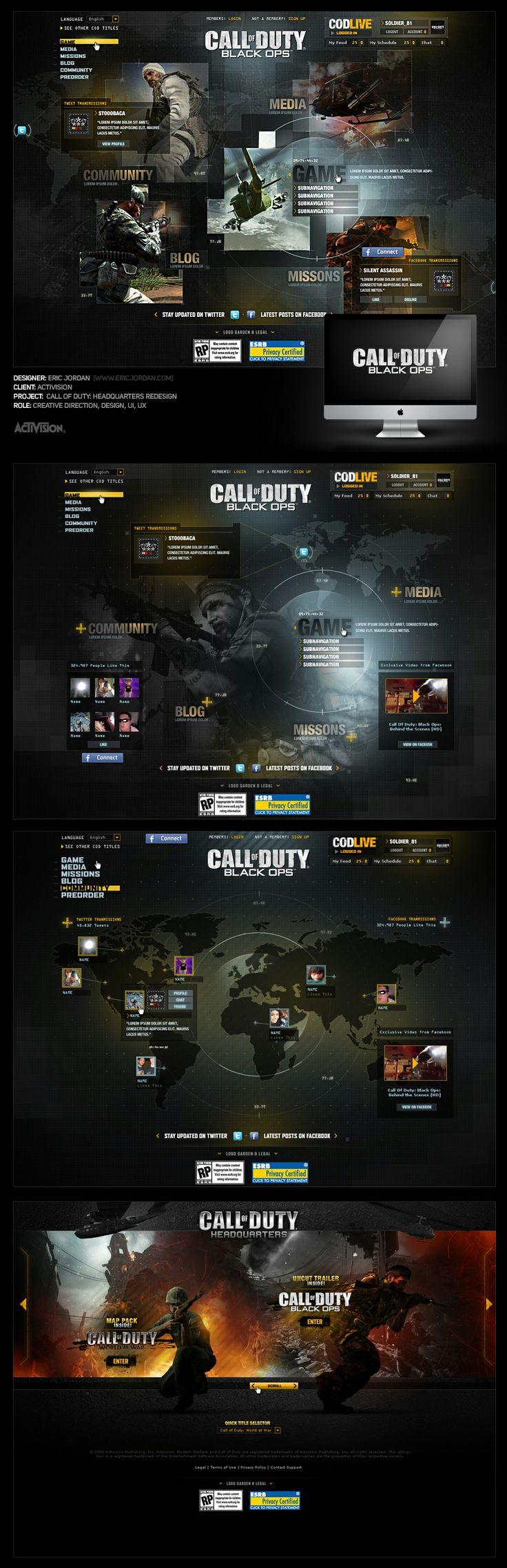 Call of Duty: Black Ops / CODLive Pitch - Designed By Eric Jordan of 2Advanced Studios (www.ericjordan.com)