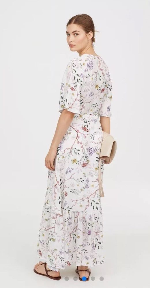 f528b8a61a H M Beautiful White Floral Maxi Wrap Dress Size 8 Blogger Favourite   fashion  clothing  shoes  accessories  womensclothing  dresses (ebay link)