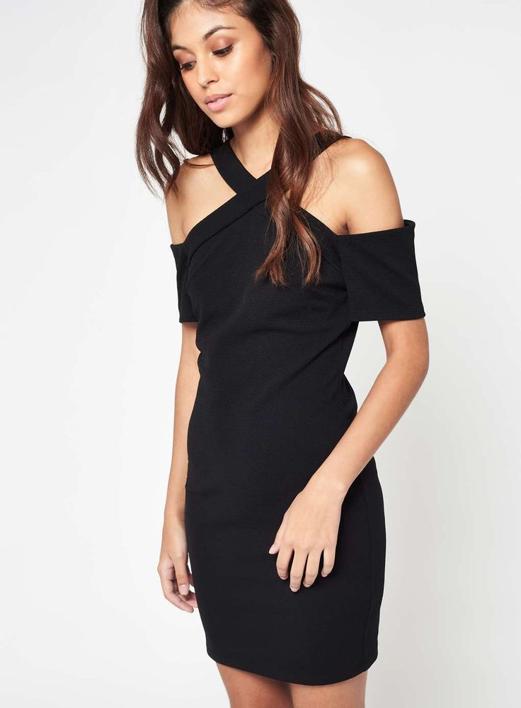 Black Cross Front Halter Dress For Just £28 This flattering cold shoulder halter dress is the ideal purchase for an evening meal or night at the theatre. Bodycon fit, Mini dress, Stretch fabric, Short sleeve 94% Polyester,6% Elastane, Machine washable Colour:  Black Click Here To View -> http://tidd.ly/899f57ba Need Anything Else Then Visit -> https://www.facebook.com/alittlebitextra/ Or Our Brand New Website http://www.alittlebitextra.com/
