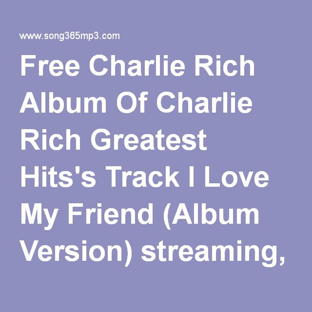 Free Charlie Rich Album Of Charlie Rich Greatest Hits's