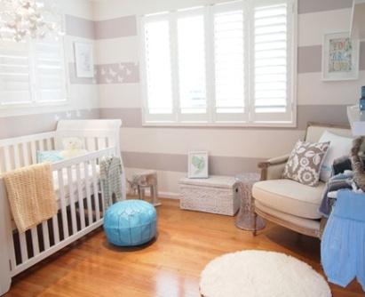 Quarto bebê - pintura de parede: Nurseries Wall, Stripes Wall, Boys Nurseries, Baby Boys, Room Ideas, Future Baby, Baby Room, Neutral Nurseries, Baby Nurseries