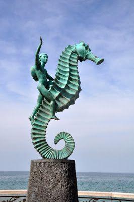 Seahorse Sculpture in Puerto Vallarta, Mexico