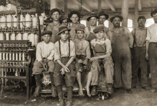 "West, Texas. ""Some of the younger boys working in Brazos Valley Cotton Mills."" November 1913. http://www.shorpy.com/node/21449 Lewis Wickes Hine"