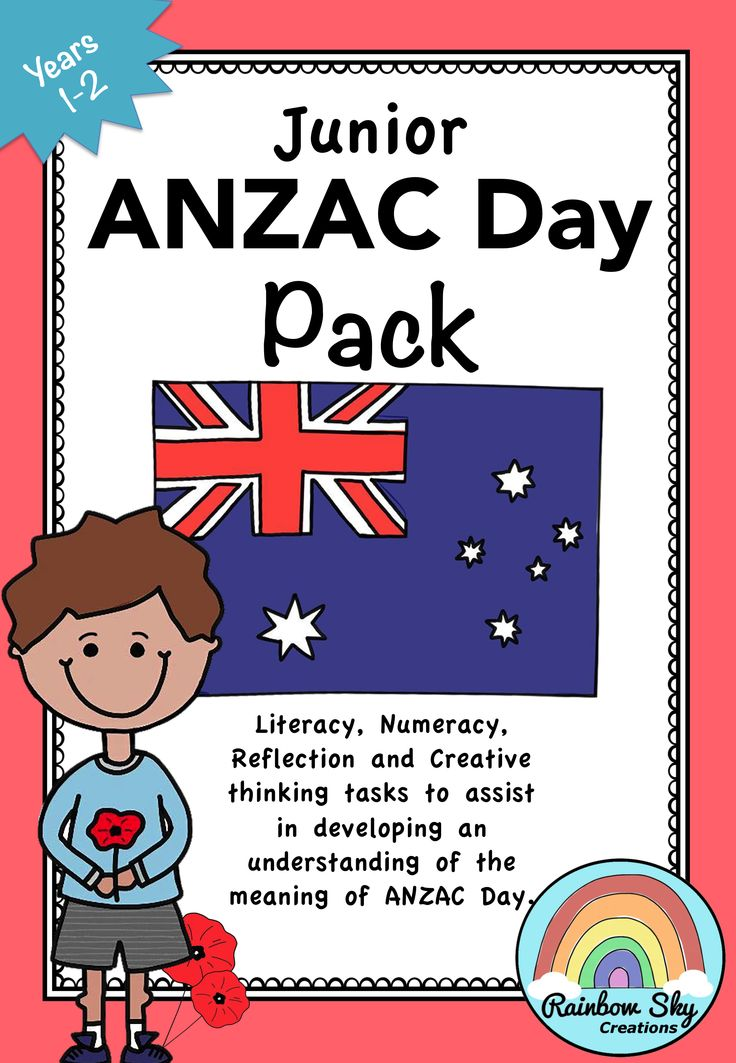 Within this package for Years 1-2 is a set of learning activities that can be used as a sequenced series of lessons or as individual tasks. Most importantly, it has been created to teach students about the importance of ANZAC Day in our country. ~ Rainbow Sky Creations ~