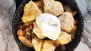 Cornmeal Apple Crumble Skillet Recipe | The Chew - ABC.com