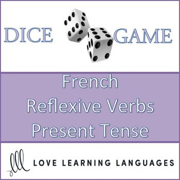 This is an easy to play 30 minute dice game to practice French reflexive verbs in the present tense. My high school and middle school students love this game, and it can get very competitive if you decide to play it as a race (details are explained with the activity).