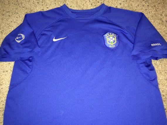Sale Vintage Nike BRASIL Soccer Jersey BRAZIL by casualisme