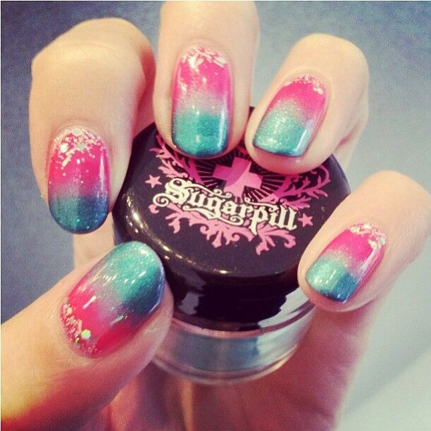 149 best nail inspiration images on pinterest hair dos make up did you know sugarpill loose eyeshadows can be used in nail art too kitsunenails created prinsesfo Image collections