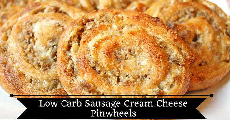 Low Carb and Trim Heatlhy Mama Friendly Sausage Cream Cheese Pinwheels.